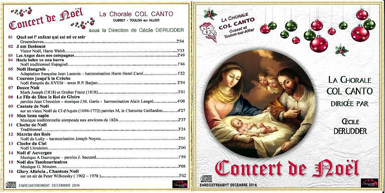 Cd concert noel 2016