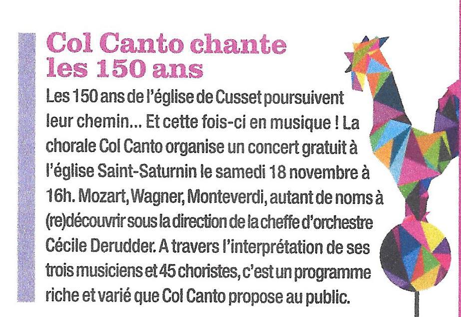Concert 18 nov cusset