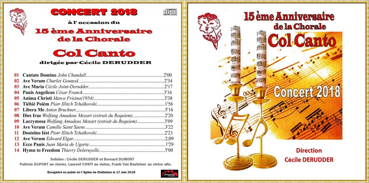 Jacquette de cd 15 ans